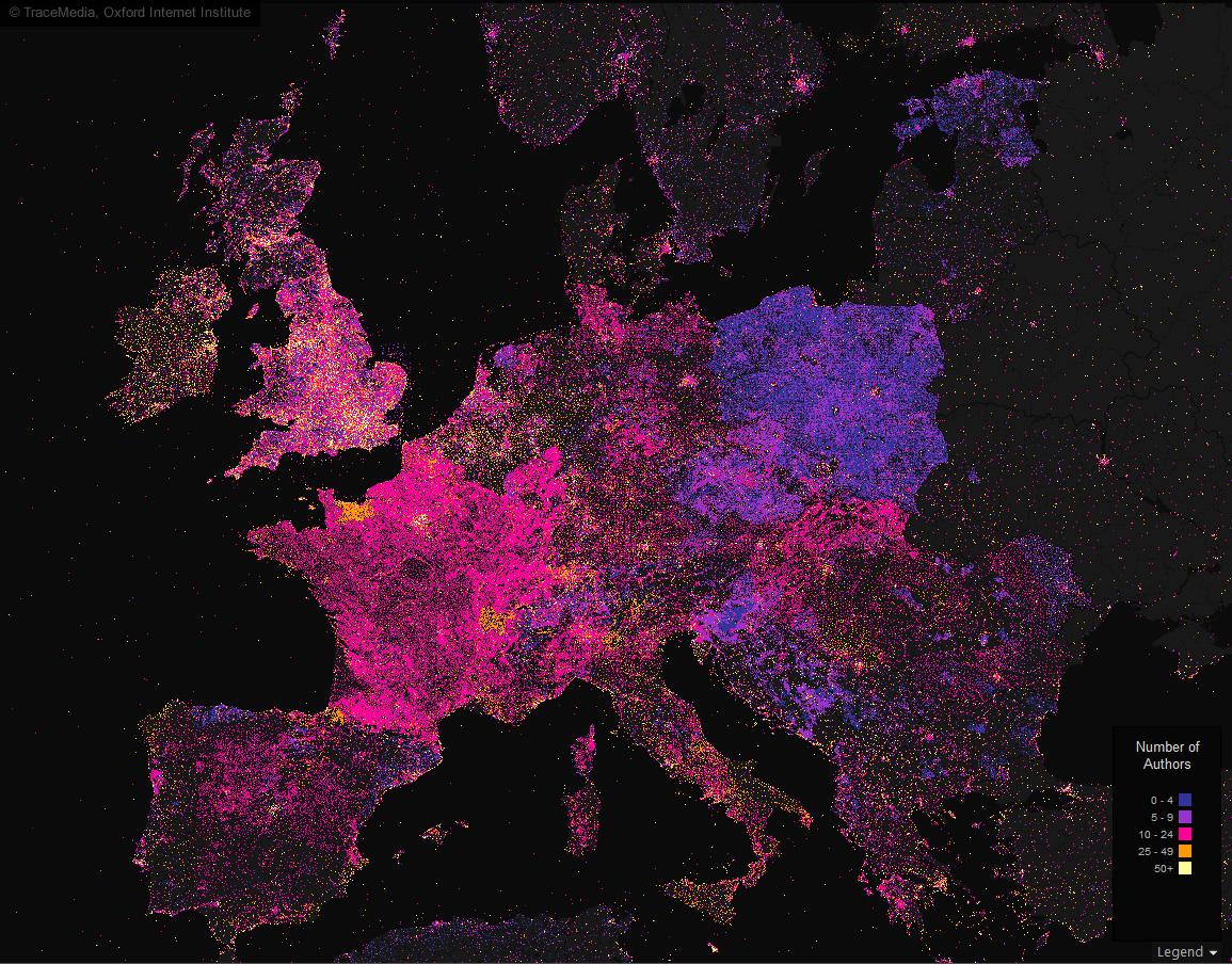 TraceMedia Mapping Wikipedia - Europe wikipedia