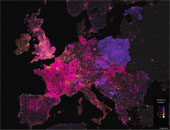 Mapping Wikipedia - English by Number of Authors, Europe