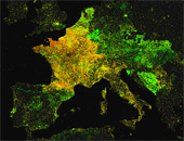Mapping Wikipedia - French by Article Date
