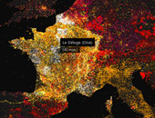 Mapping Wikipedia - French by Article Word Count